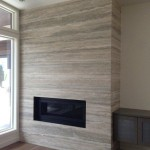 A silver slab fireplace remodel example