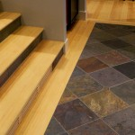 A travertine tile entryway floor example
