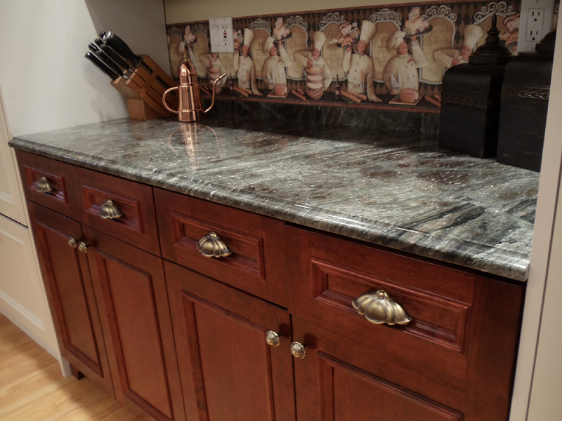 Stone Fabrication Installation Scrivanich Natural Stone - Wood cabinets grey countertops