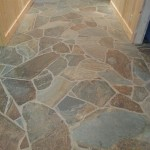 A natural stone hallway example