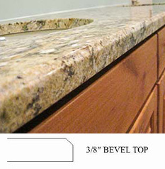 3/8 Bevel Top Countertop Edge Profile