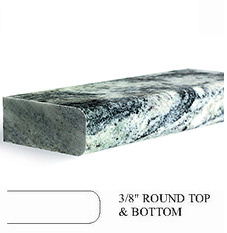 3/8 Round Top and Bottom Countertop Edge Profile