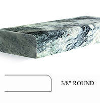 3/8 round top countertop edge profile