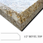 Half Bevel Top Countertop Edge Profile