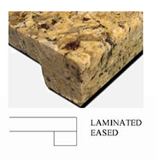 Countertop Eased Edge Profile : laminted-eased-countertop-edge - Scrivanich Natural Stone