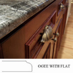 Ogee with Flat Countertop Edge Profile