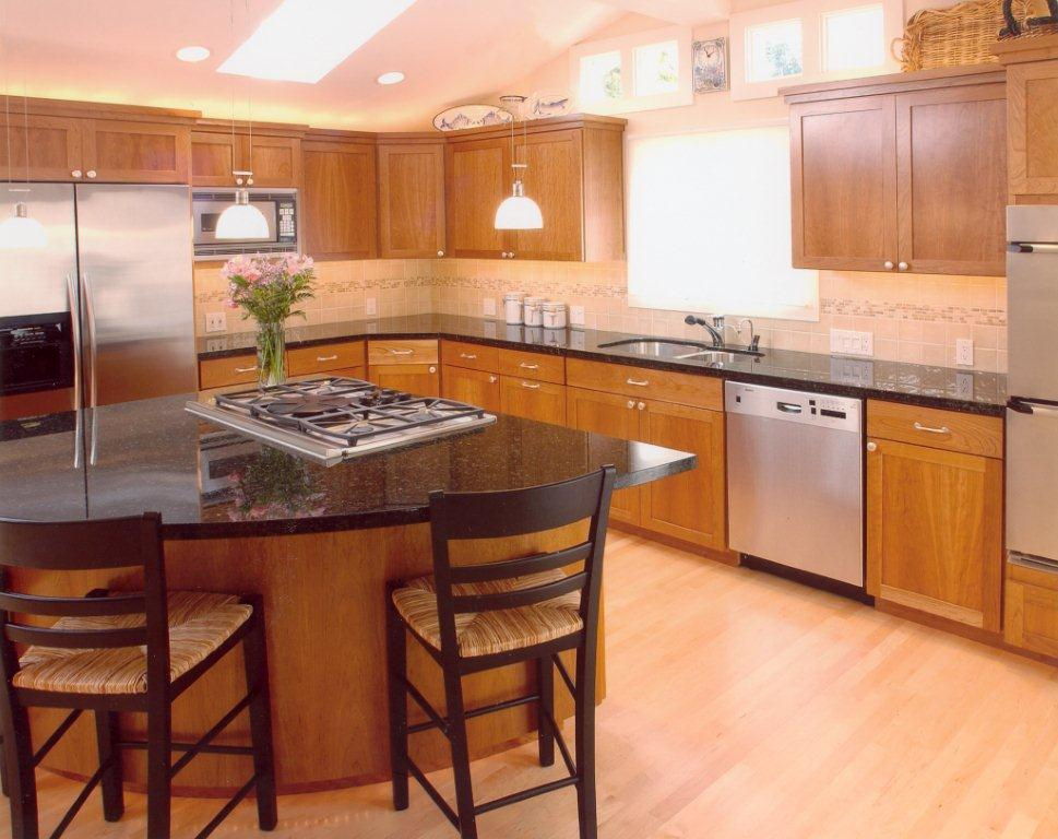 Example Granite Kitchen Island Living Room Examples