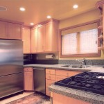 Mottled gray kitchen countertops example.